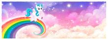 Pony Unicornio Volando En Arco...