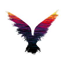 Hot Color Raven Silhouette