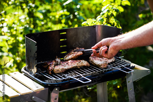 Fotografie, Obraz  Grilled meat, barbecue. Spring time.