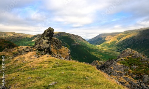 The summit of Helm Crag Canvas Print
