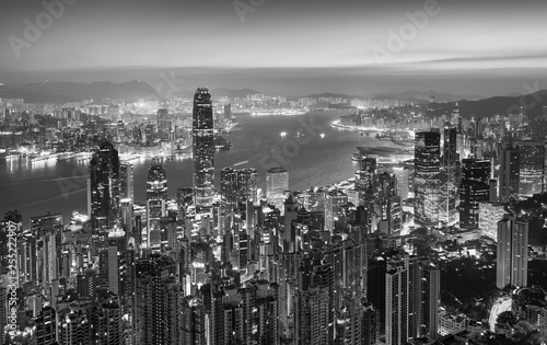 Amazing view on Hong Kong city from the Victoria peak, China Wallpaper Mural