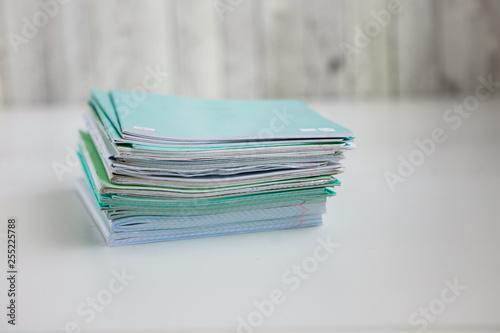 Fotografía  Stack of exercice books