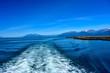 Wake Behind Ship near Juneau Alaska