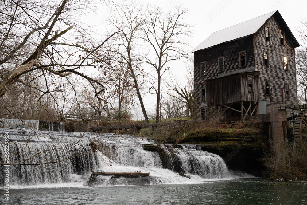 Photo  old grist mill