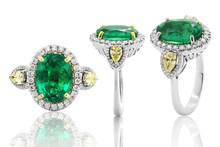 Ring  Jewelry Diamonds With And Gemstone Emerald Ruby And Sapphire Jewels  Earrings
