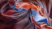 Abstract Scenic View Beautiful Canyon Antelope Near Page, Arizona