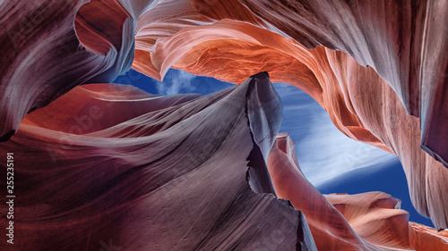 Foto auf Leinwand Arizona Abstract scenic view beautiful Canyon Antelope near Page, Arizona