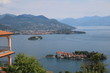 View to Isola Bella, Isola Madre and Pallanza Verbania at Lake Maggiore, Italy