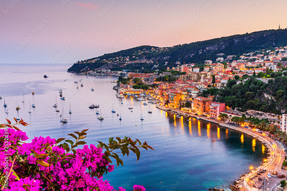 Fototapety, obrazy: Villefranche sur Mer, France. Seaside town on the French Riviera (or Côte d'Azur).