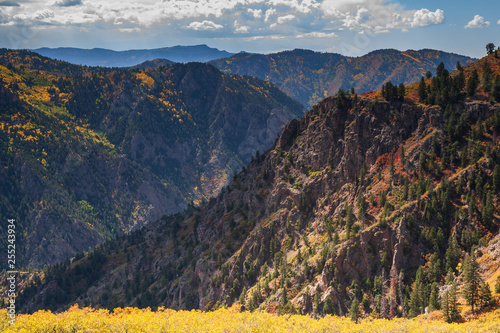 Beautiful and Colorful Colorado Rocky Mountain Autumn Scenery