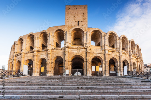 Canvas Print Arles, France. Roman amphitheater.