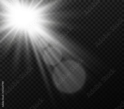 Fototapeta White Sunlight light obraz na płótnie