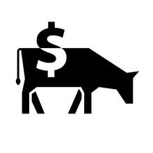 Cash Cow Silhouette Icon. Clip...