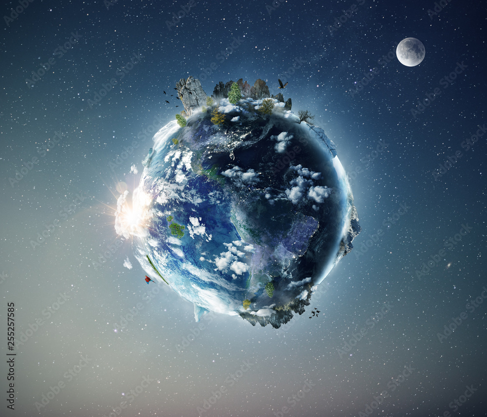 Fototapety, obrazy: Full view of planet Earth, composed by NASA images