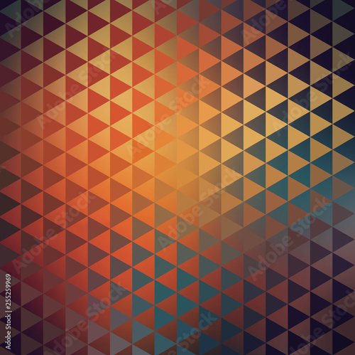 Carta da parati Abstract Geometric Triangular Native American Tribal Texture
