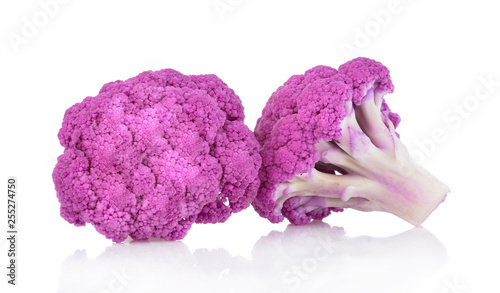 Fotografie, Obraz  Purple brassica oleracea isolated on white background