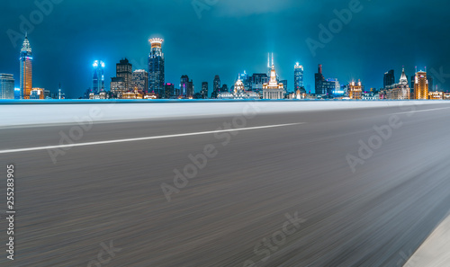 Urban Road, Highway and Construction Skyline.. Wallpaper Mural
