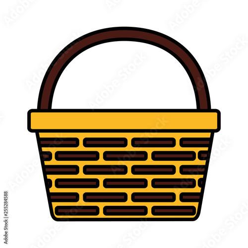 Fotografía  wicker basket icon
