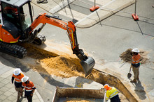 Street Construction In City