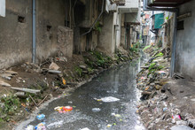 Dirty Polluted Waste Water In ...