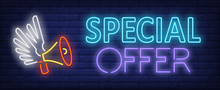 Special Offer Neon Text And Lo...