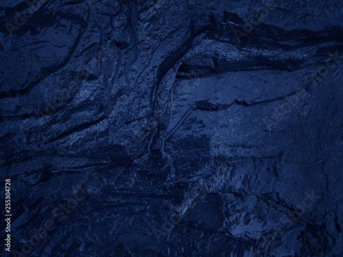 Dark blue black slate background - 255304728