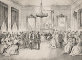 A Soirée with the ruling prince of Bucharest - Illustration from 1848 - 255306532