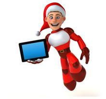 Fun Super Santa Claus - 3D Ill...
