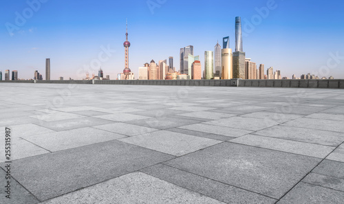 Foto op Aluminium Shanghai Air highway asphalt road and office building of commercial building in modern city