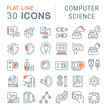 Set Vector Line Icons of Computer Science.