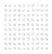 Leinwanddruck Bild - Set Vector Line Icons of Cosmetology and Plastic Surgery.