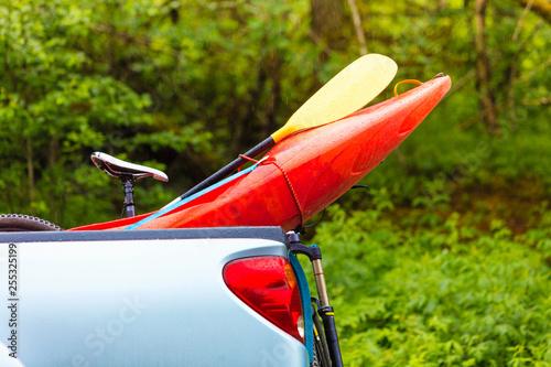 Foto  Sport objects, closeup of kayak prow