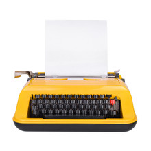 Yellow Typewriter Isolated On ...