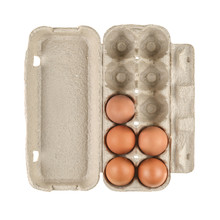 Egg Carton Box Isolated