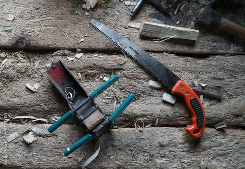 Photo Stands Mountaineering old carpenter's tools for working with wood