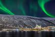 Norwegen Tromso Eismeerkathedrale Nordlicht