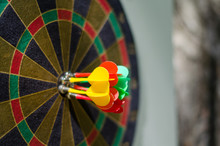 Magnetic Darts. Board For Playing Darts. Accurate Hit On Target. Soft Focus.