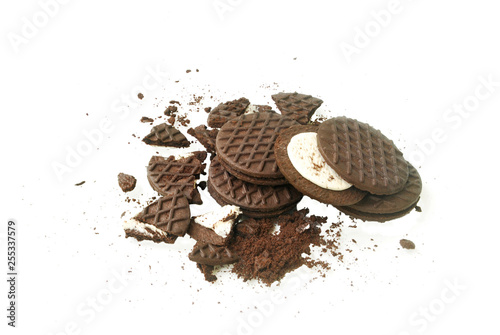 Fotografie, Obraz  Oreo and cream.With Clipping Path.