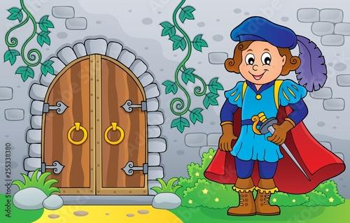 Foto op Canvas Voor kinderen Prince by old door theme image 2