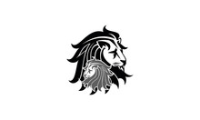 Two Lions Silhouette Icon
