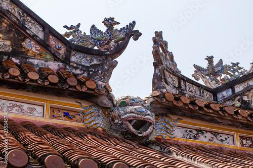 Fotografie, Obraz  Decorative roof ends, Imperial City (Imperial Citadel), Hue, Vietnam