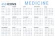 Leinwanddruck Bild - Set Vector Line Icons of Medicine.