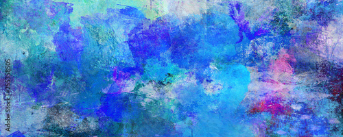 blau-malerei-texturen-querformat-banner
