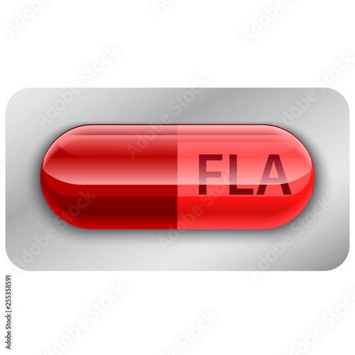 Photo fla icon. digital file flash player icon.