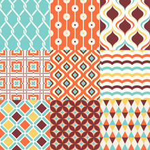 Abstract Retro Stylish Seamles...