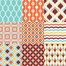Abstract Retro Stylish Seamless Geometric Cushion Pattern