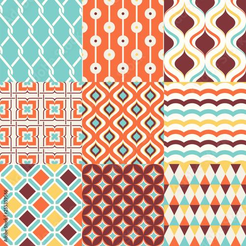 Photo abstract retro stylish seamless geometric cushion pattern