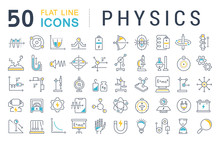 Set Vector Line Icons Of Physi...