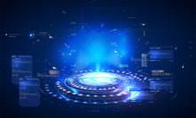 Futuristic Hologram, Layout Fo...
