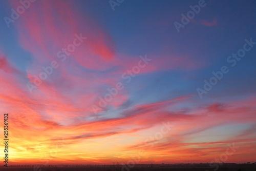 Beautiful sunset view